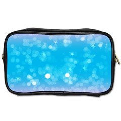 Background Abstract Christmas Snow Toiletries Bag (one Side)