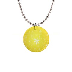 Snowflakes The Background Snow 1  Button Necklace