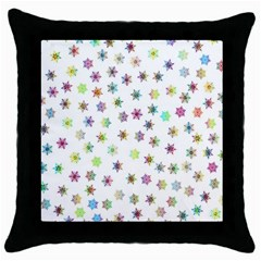 Snowflakes Snow Winter Ice Cold Throw Pillow Case (black)