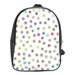 Snowflakes Snow Winter Ice Cold School Bag (xl)