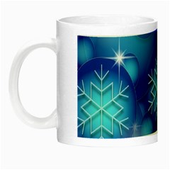Blue Background Christmas Night Luminous Mugs