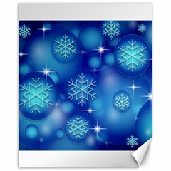 Blue Background Christmas Canvas 11  X 14  by Wegoenart