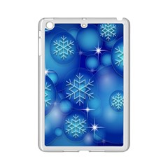 Blue Background Christmas Ipad Mini 2 Enamel Coated Cases by Wegoenart