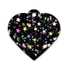 Wallpaper Star Advent Christmas Dog Tag Heart (two Sides)