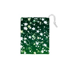 Christmas Star Advent Background Drawstring Pouch (xs)