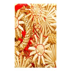 Christmas Straw Xmas Gold Shower Curtain 48  X 72  (small)