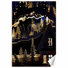 Christmas Advent Candle Arches Canvas 24  X 36