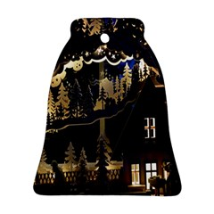 Christmas Advent Candle Arches Bell Ornament (two Sides)