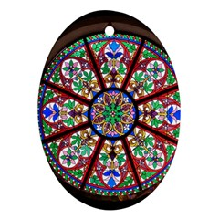 Church Window Window Rosette Ornament (oval)