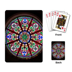 Church Window Window Rosette Playing Cards Single Design