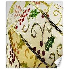 Christmas Ribbon Background Canvas 20  X 24  by Wegoenart