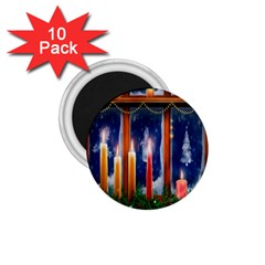 Christmas Lighting Candles 1 75  Magnets (10 Pack)