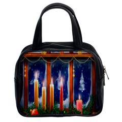 Christmas Lighting Candles Classic Handbag (two Sides)
