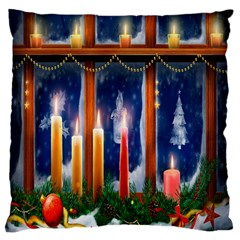 Christmas Lighting Candles Standard Flano Cushion Case (two Sides)