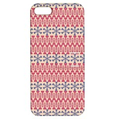 Christmas Pattern Vintage Apple Iphone 5 Hardshell Case With Stand by Wegoenart