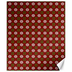 Christmas Paper Wrapping Pattern Canvas 8  X 10  by Wegoenart