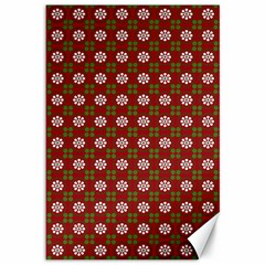 Christmas Paper Wrapping Pattern Canvas 12  X 18