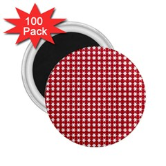 Christmas Paper Wrapping Paper 2 25  Magnets (100 Pack)