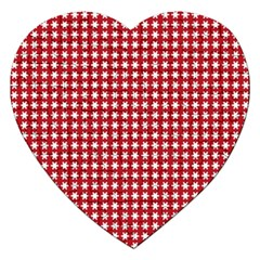 Christmas Paper Wrapping Paper Jigsaw Puzzle (heart) by Wegoenart