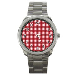 Christmas Paper Wrapping Paper Sport Metal Watch by Wegoenart