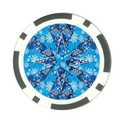 Christmas Background Pattern Poker Chip Card Guard (10 Pack)