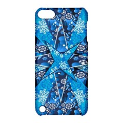 Christmas Background Pattern Apple Ipod Touch 5 Hardshell Case With Stand