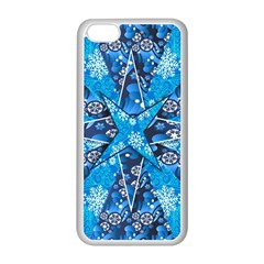 Christmas Background Pattern Apple Iphone 5c Seamless Case (white)