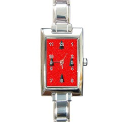 Christmas Time Fir Trees Rectangle Italian Charm Watch