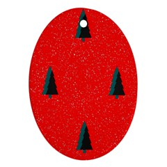 Christmas Time Fir Trees Ornament (oval)