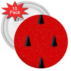 Christmas Time Fir Trees 3  Buttons (10 Pack)