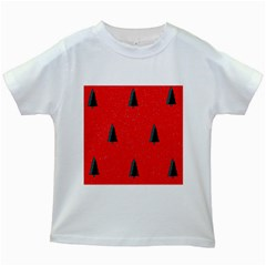 Christmas Time Fir Trees Kids White T Shirts
