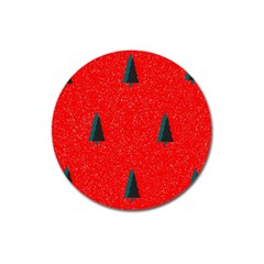 Christmas Time Fir Trees Magnet 3  (round)