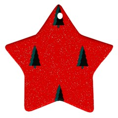 Christmas Time Fir Trees Star Ornament (two Sides)