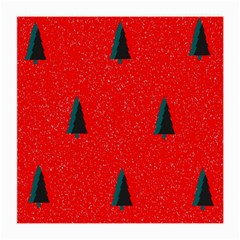 Christmas Time Fir Trees Medium Glasses Cloth (2-side)