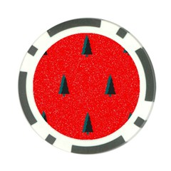 Christmas Time Fir Trees Poker Chip Card Guard
