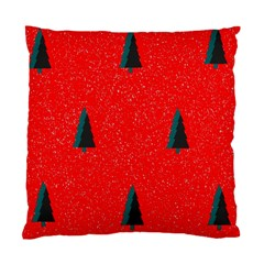 Christmas Time Fir Trees Standard Cushion Case (one Side)