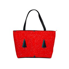 Christmas Time Fir Trees Classic Shoulder Handbag