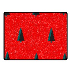 Christmas Time Fir Trees Fleece Blanket (small)