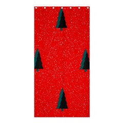 Christmas Time Fir Trees Shower Curtain 36  X 72  (stall)