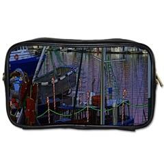 Christmas Boats In Harbor Toiletries Bag (one Side)