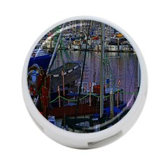 Christmas Boats In Harbor 4 Port Usb Hub (two Sides)