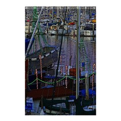 Christmas Boats In Harbor Shower Curtain 48  X 72  (small)