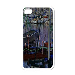 Christmas Boats In Harbor Apple Iphone 4 Case (white)