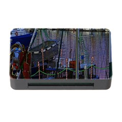Christmas Boats In Harbor Memory Card Reader With Cf