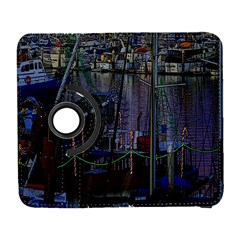 Christmas Boats In Harbor Samsung Galaxy S  Iii Flip 360 Case