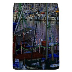 Christmas Boats In Harbor Removable Flap Cover (l)