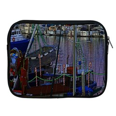 Christmas Boats In Harbor Apple Ipad 2/3/4 Zipper Cases
