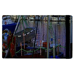 Christmas Boats In Harbor Apple Ipad Pro 12 9   Flip Case