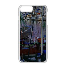 Christmas Boats In Harbor Apple Iphone 7 Plus Seamless Case (white) by Wegoenart