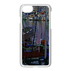 Christmas Boats In Harbor Apple Iphone 7 Seamless Case (white)